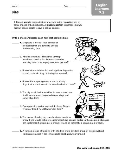 Bias Worksheets History - The Best and Most Comprehensive Worksheets