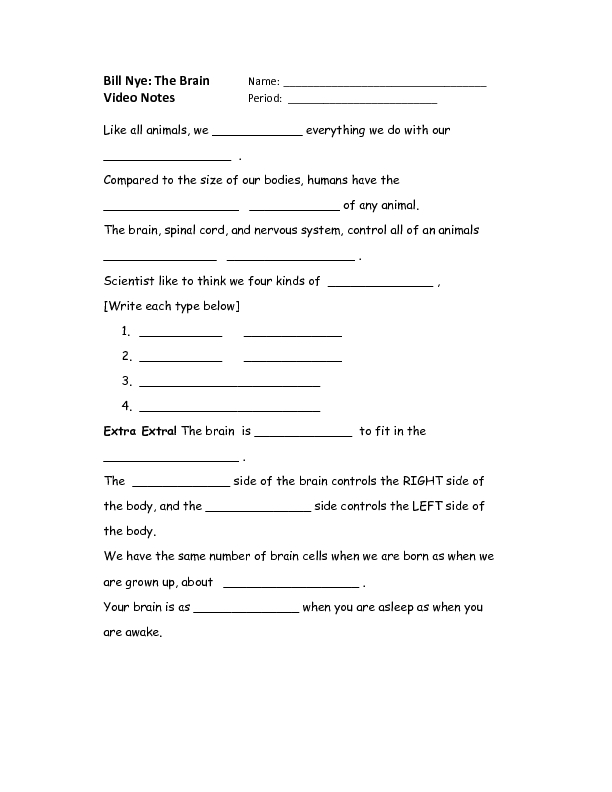 Printables Bill Nye Gravity Worksheet bill nye the science guy worksheet imperialdesignstudio brain worksheets for kids