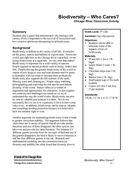 Free Ecology Worksheets Middle School - The Best and Most ...