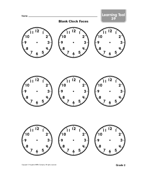 Blank Clock Face Worksheet - Sharebrowse