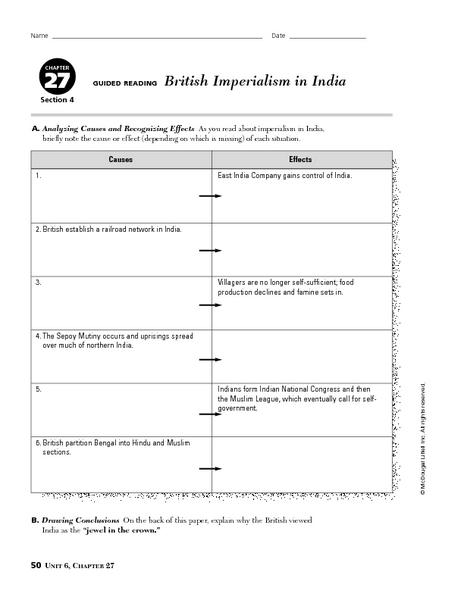 british imperialism in india worksheet the best and most comprehensive worksheets. Black Bedroom Furniture Sets. Home Design Ideas