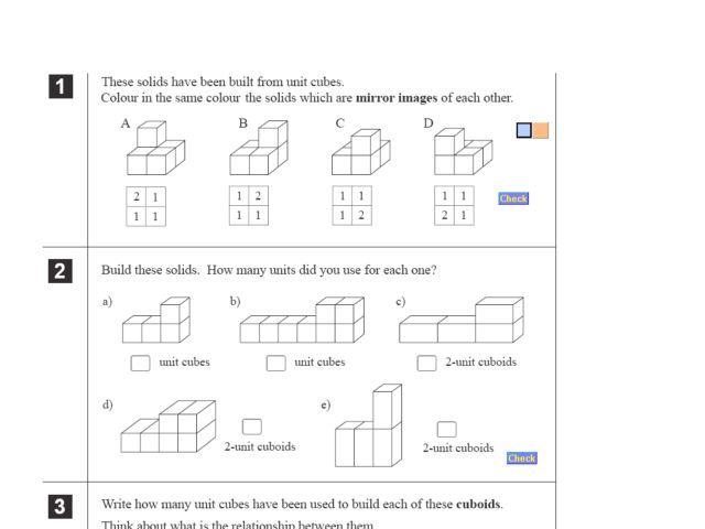 volume cubes worksheets 4th grade building solids using unit cubes 4th 5th grade worksheet. Black Bedroom Furniture Sets. Home Design Ideas