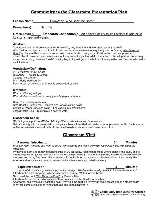 worksheets on buoyancy The Best and Most Comprehensive Worksheets – Buoyancy Worksheet