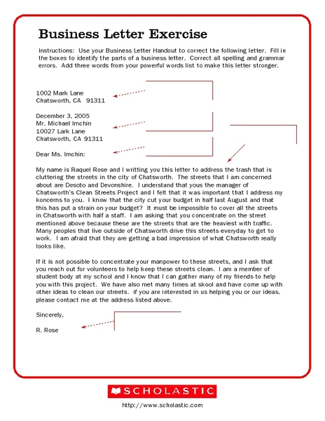 Parts Of A Business Letter All About Design Letter – Parts of a Business Letter