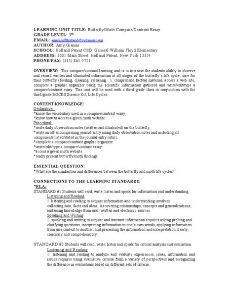 writing a compare and contrast essay lesson plan Compare two things - graphic organizer  compare and contrast activity lesson plan: complete the graphic organizer and writing easier:.