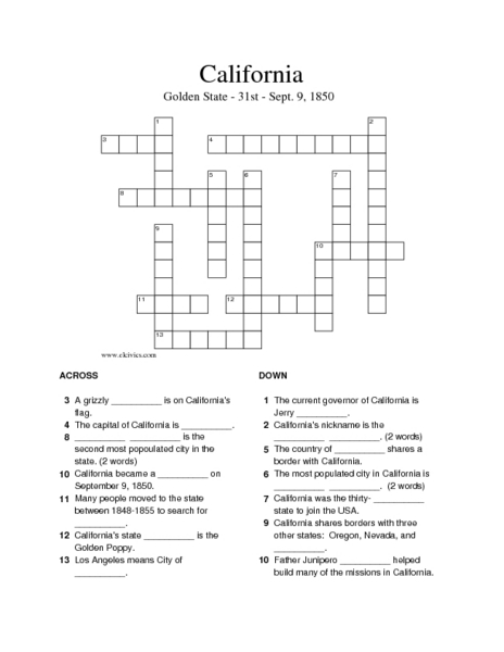picture relating to 4th Grade Crossword Puzzles Printable known as No cost 5th Quality Crossword Puzzles Printable - crossword
