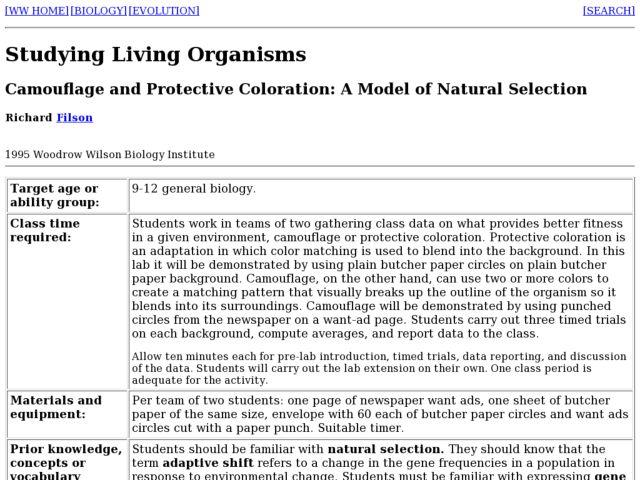 Natural Modeling Model of Natural Selection