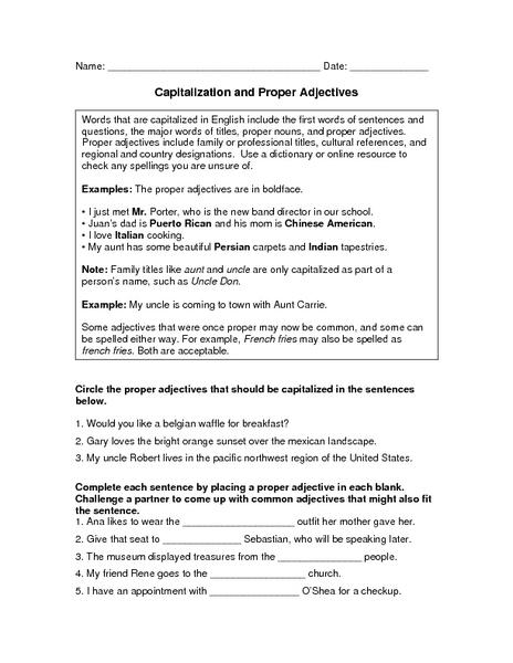 capitalization practice worksheets 8th grade capitalize proper nouns worksheet and. Black Bedroom Furniture Sets. Home Design Ideas