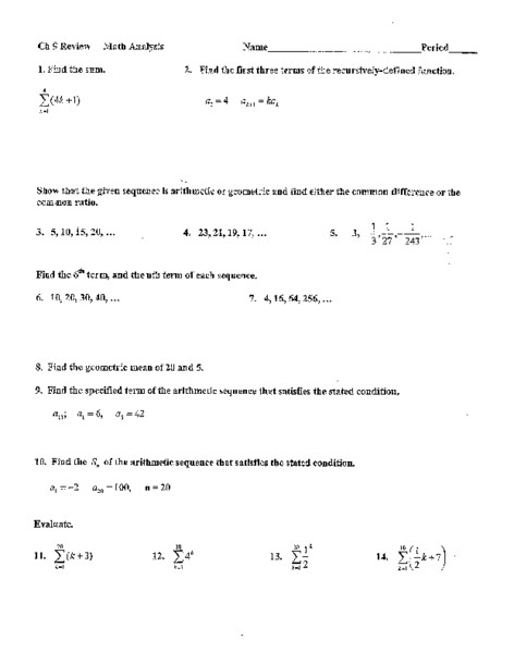 arithmetic and geometric sequences worksheet 8th grade arithmetic and geometric sequences. Black Bedroom Furniture Sets. Home Design Ideas
