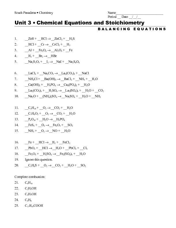 Balancing Equations Worksheet 2 Answers – Balancing Equations Worksheet with Answers