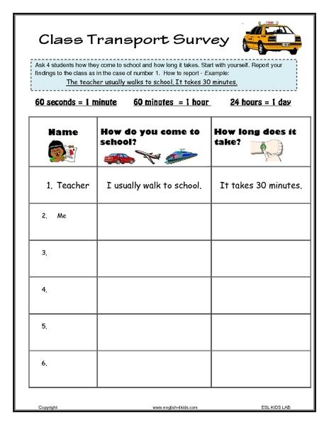 Free Worksheets u00bb Worksheet On Transport - Free Math ...