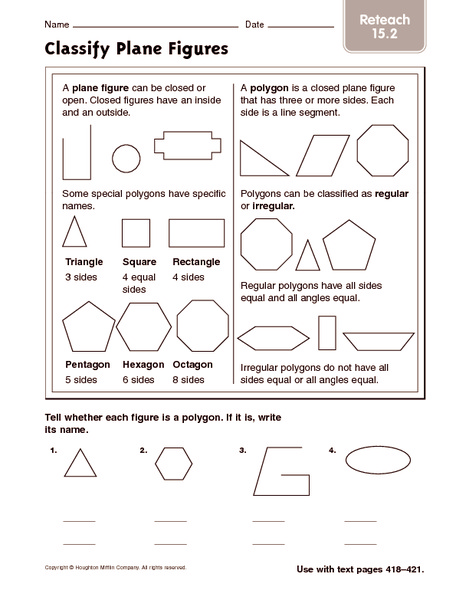Polygons worksheet grade 8