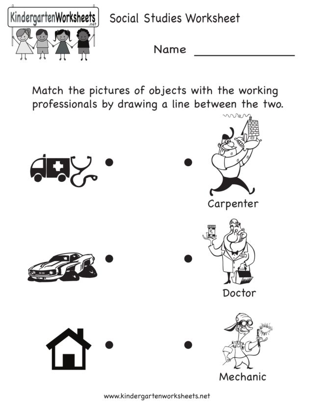 Community Helpers Worksheets – Community Workers Worksheets