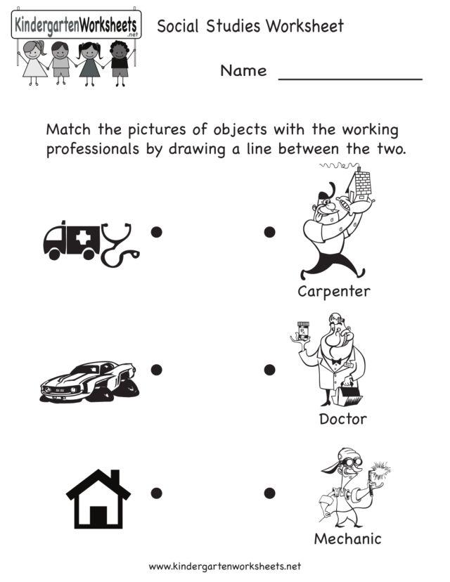 math worksheet : community helpers matching worksheet kindergarten  munity  : Community Helpers Kindergarten Worksheets