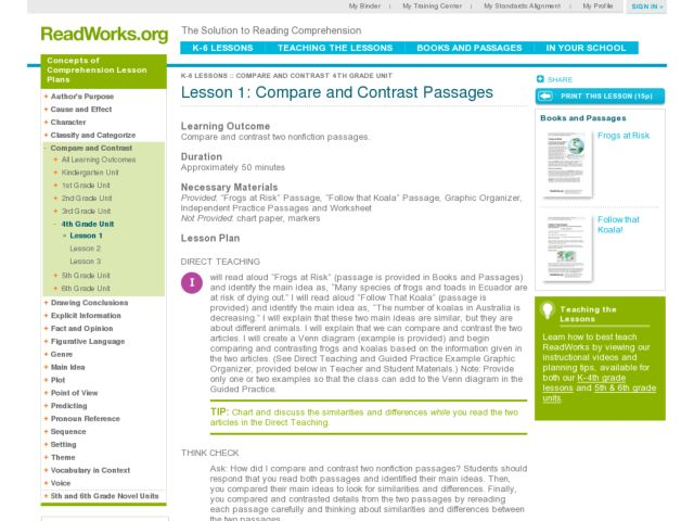 compare and contrast lesson plan Differentiated instruction & understanding by design lesson plan format title: compare/contrast subject matter emphasis and level: reading 2nd grade.