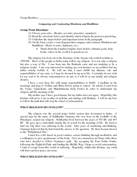 comparing hinduism buddhism essays comparing hinduism buddhism