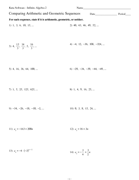 Worksheet Arithmetic Sequence Worksheet arithmetic sequence worksheet fireyourmentor free printable worksheets comparing and geometric sequences 9th 11th grade lesson planet