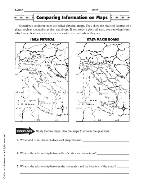 Different Types Of Maps Worksheet - Sharebrowse