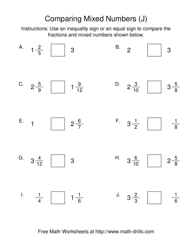 Comparing And Ordering Fractions And Mixed Numbers Worksheet Scalien – Ordering Fractions Worksheet 5th Grade