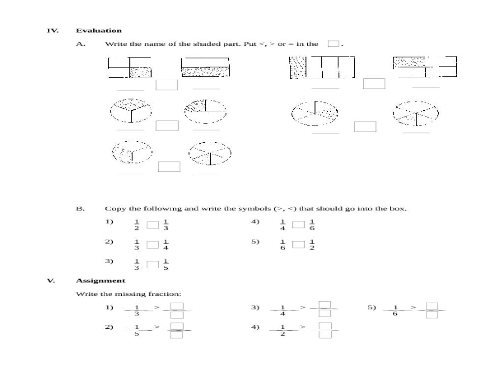Worksheet Comparing Unit Fractions Worksheet comparing unit fraction 4th grade lesson plan planet