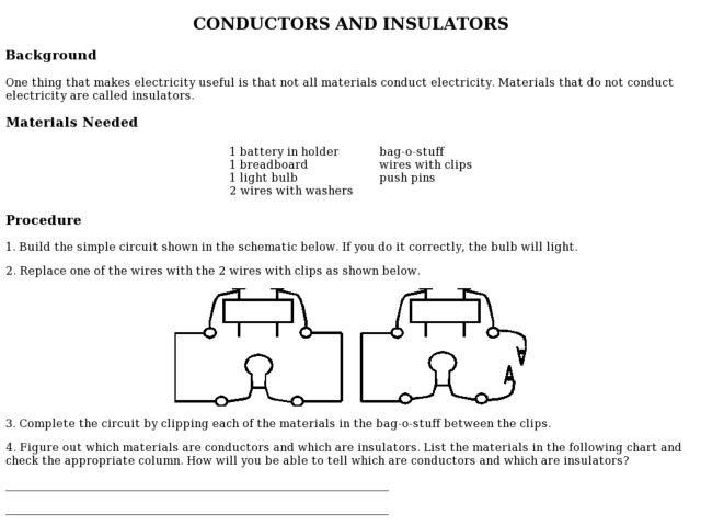 Conductors And Insulators Worksheet Worksheet – Conductors and Insulators Worksheet