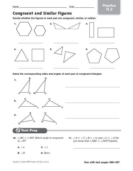 Free Congruent Similar Shapes Worksheets - Worksheets