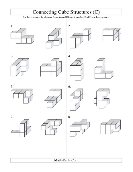 Worksheets Volume Counting Cubes Worksheet volume counting cubes worksheet intrepidpath connecting cube structures c 2nd 4th grade lesson