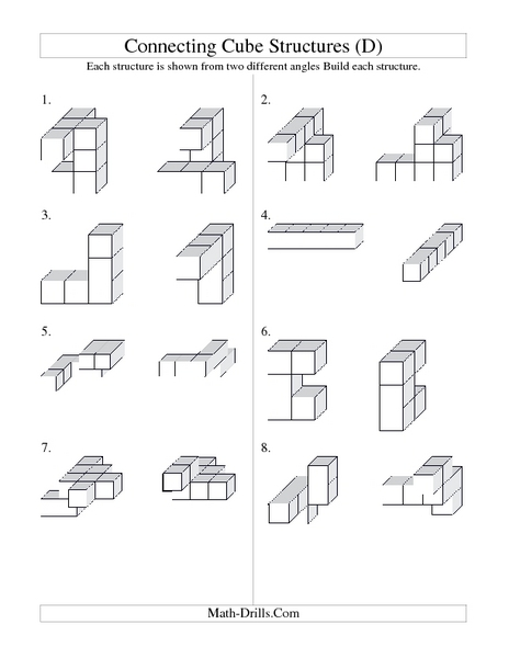 Worksheets Volume Counting Cubes Worksheet counting cubes worksheets volume intrepidpath connecting cube structures 3rd 5th grade worksheet lesson pla volume