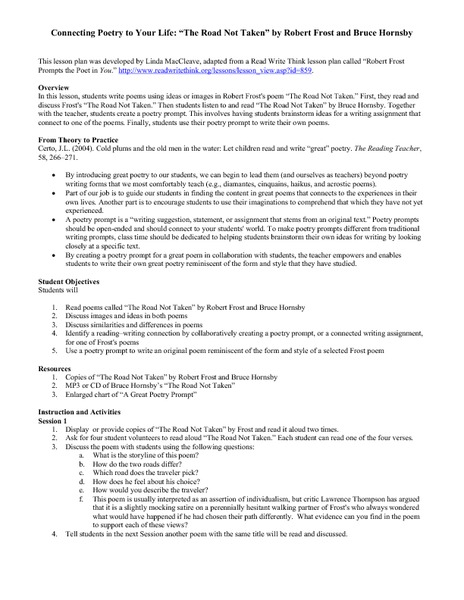 robert frost analysis essay