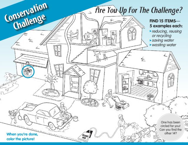 Printables Water Conservation Worksheets conservation challenge kindergarten 2nd grade worksheet lesson planet