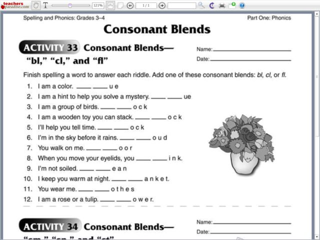 All Worksheets Fl Blends Worksheets Activities Printable – Consonant Clusters Worksheets