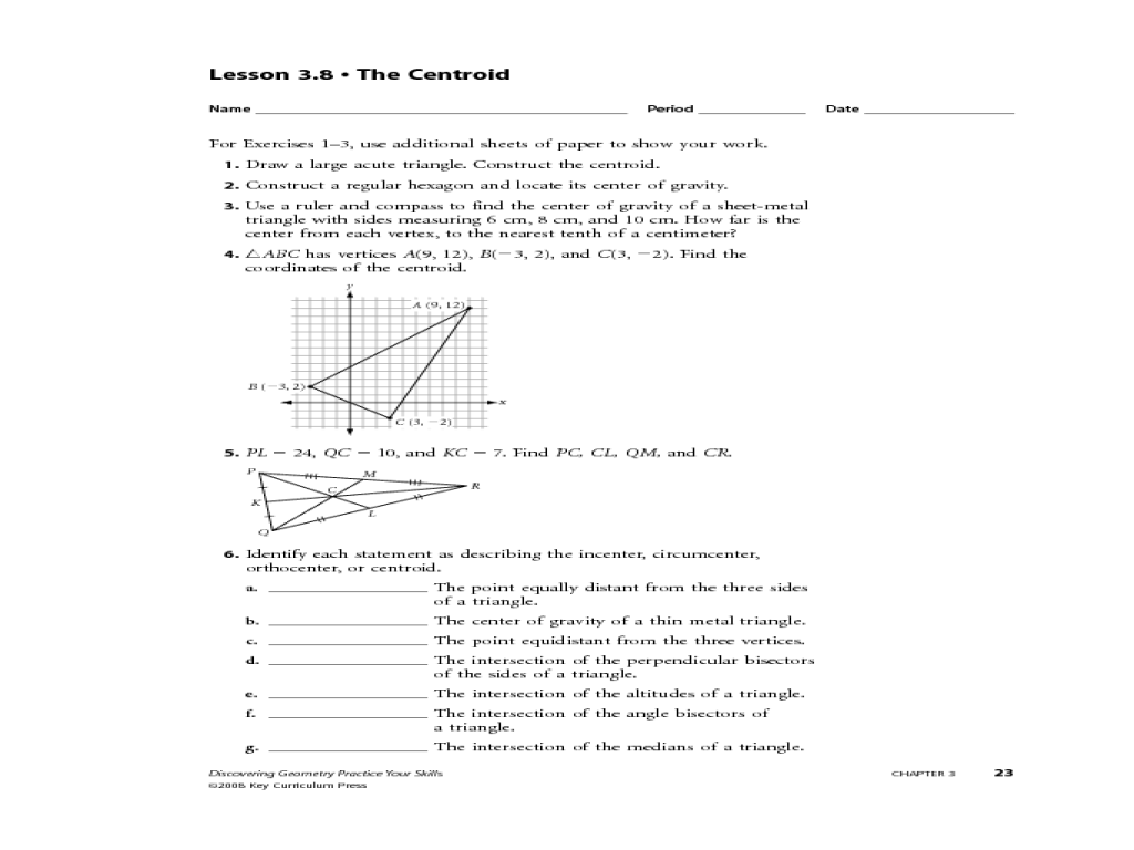 Carpentry Math Worksheets mathematics for carpentry and the – Geometry Construction Worksheets