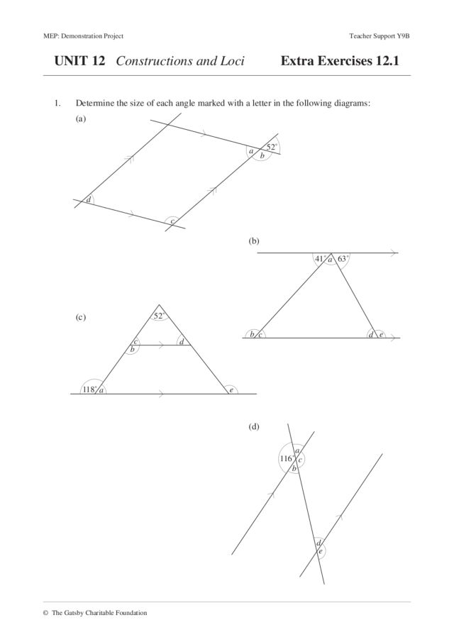 Locus Worksheet – Locus Worksheet