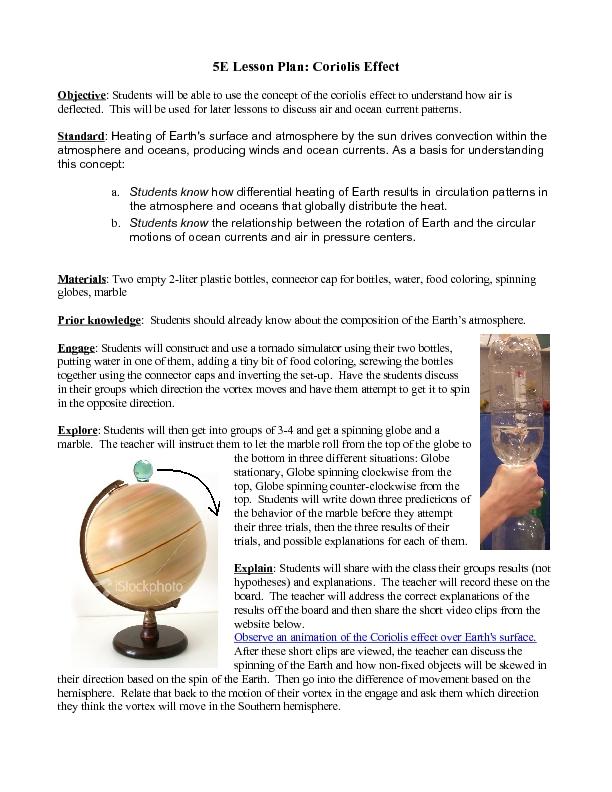 Coriolis Effect Worksheet - Worksheets