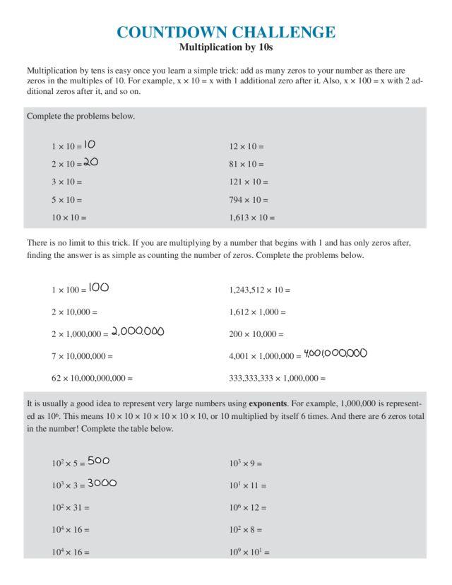math worksheet : multiplication challenge worksheets  worksheets for education : Multiplication Challenge Worksheet