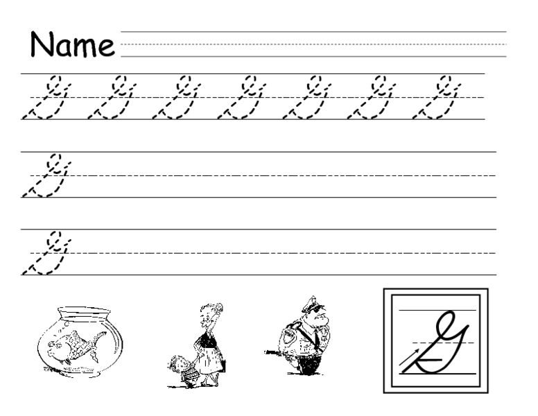 Handwriting practice sheets 3rd grade
