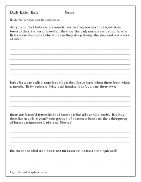 Printables Daily Edit Worksheets daily edit worksheets davezan worksheet kids