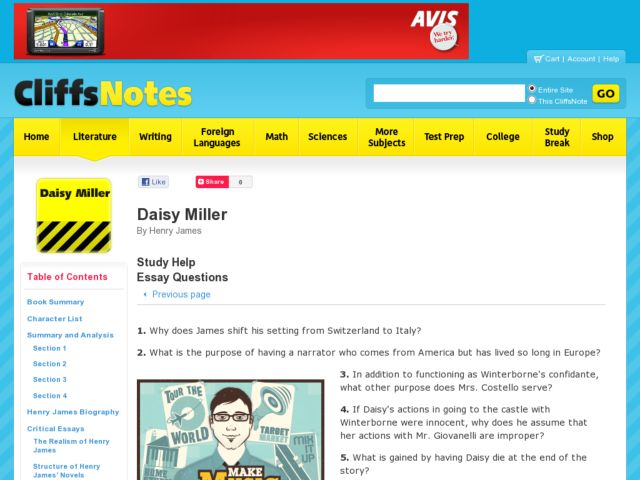 new essays daisy miller
