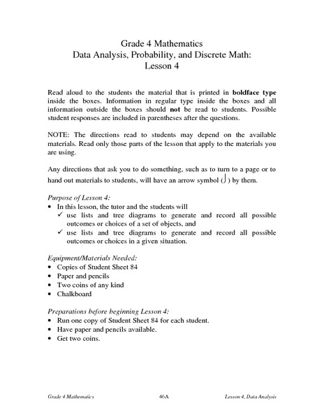 Data analysis and probability worksheets 3rd grade