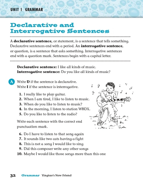Printables Declarative And Interrogative Sentences Worksheets 4th Grade declarative and interrogative sentences 2nd 3rd grade worksheet lesson planet