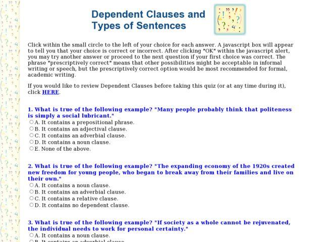 All Worksheets Ecology Worksheets High School Printable – Dependent Clause Worksheet