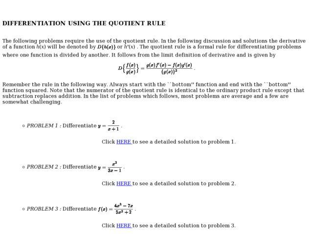 Worksheets Quotient Rule Worksheet differentiation using the quotient rule 11th 12th grade worksheet lesson planet