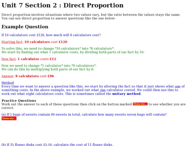 7th Grade Direct Proportion Worksheets 7th grade direct – Proportion Worksheet