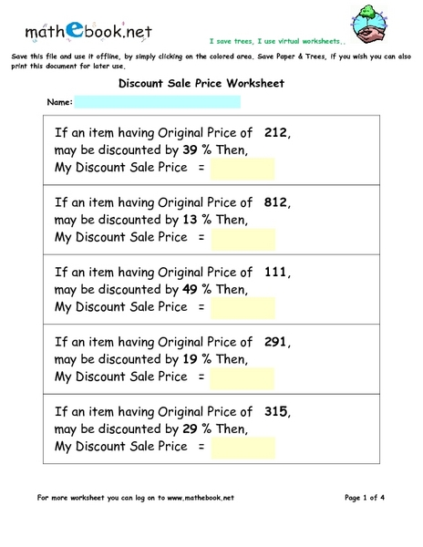 Apr 24, · A discount is an amount taken off the original price, which gives the buyer a better deal. Discounts are usually listed as a percent off -- such as 35 percent off -- or as a fraction off, such as 1/3 off the original price.