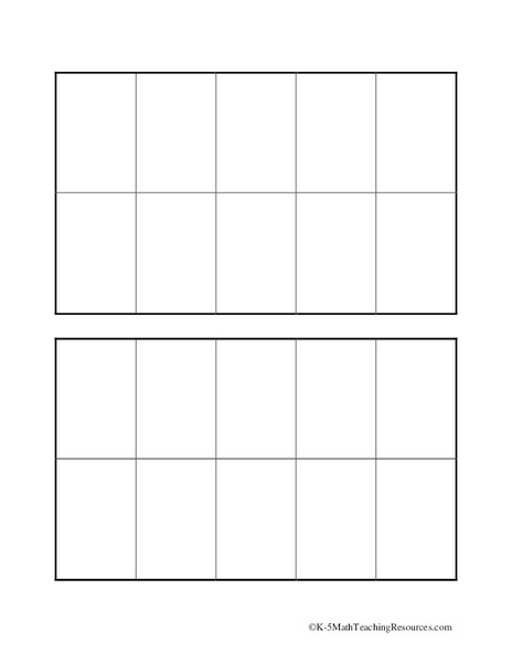Worksheets : ten frames template Ten Frames or Ten Frames Template ...