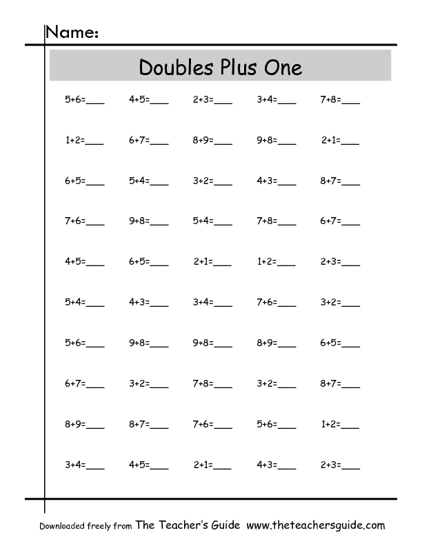Math Worksheets Doubles Plus One – Doubles Plus One Worksheet
