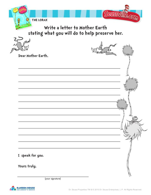 Printables Lorax Worksheets the lorax worksheets davezan dr seuss activity quot 2nd 4th grade worksheet lesson