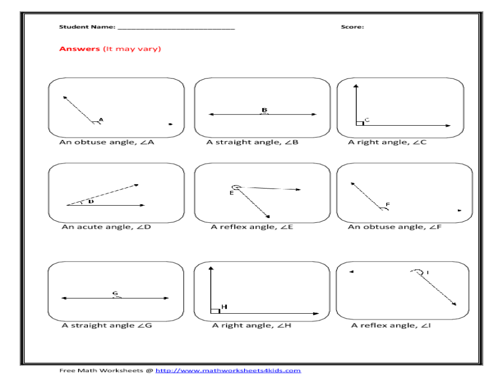 worksheet Types Of Angles Worksheet draw angles of given type 3rd 6th grade worksheet lesson planet