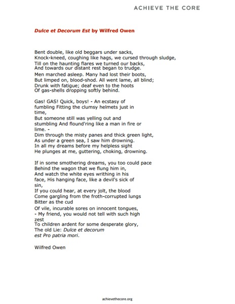 a farewell to arms wilfred owen A farewell to arms wilfred owen essaywilfred owen----- dulce et decorum est bent double, like old beggars under sacks, knock-kneed.