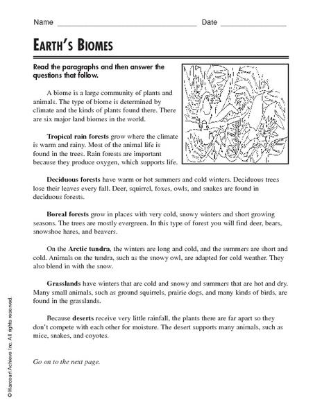 biomes worksheets - Termolak